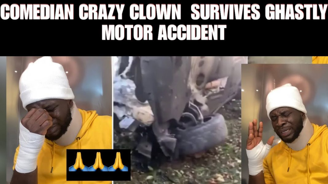 Comedian Craze Clown survives car accident on wife's birthday