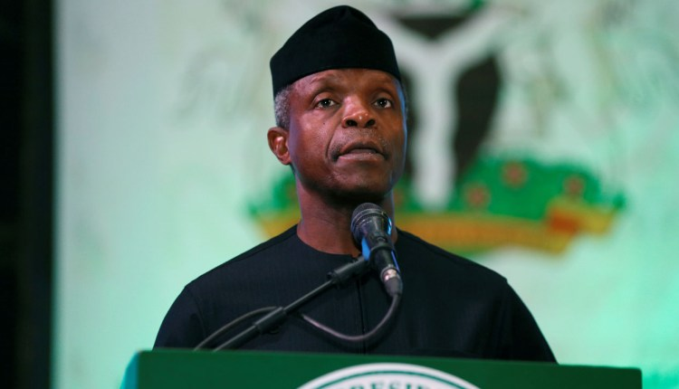 The exchange rate is artificially low -Osinbajo